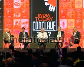 Guests at the India Today Conclave in Mumbai.