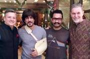 SEE PICS: Shah Rukh-Aamir together on a Saturday night. What's cooking?