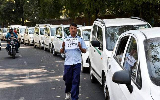 Ola, Uber drivers went on an indefinite fast on Wednesday