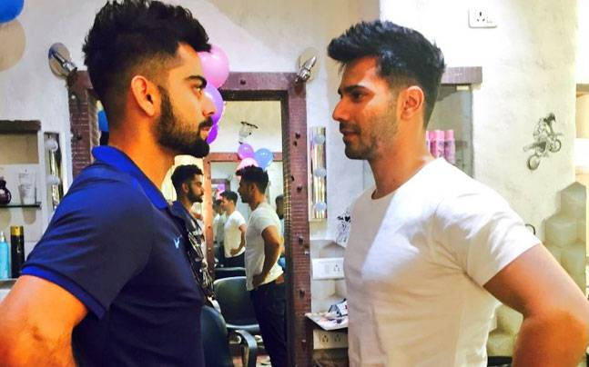 Latest Hair Styles For Boys In 2014 2: SEE PIC: Varun Copies Virat Kohli's Hairstyle For