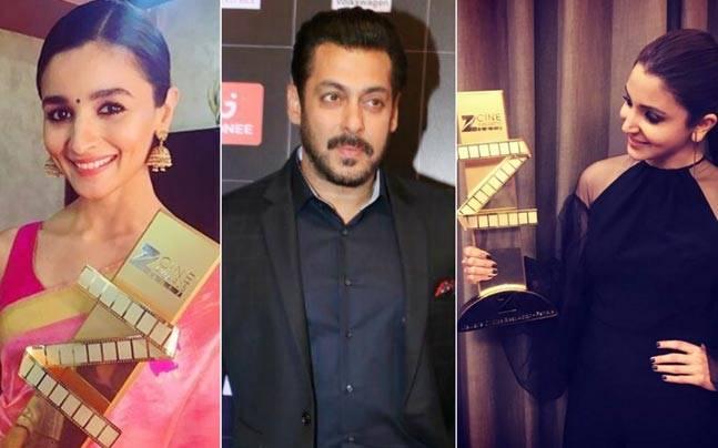 (L-R) Alia Bhatt, Salman Khan and Anushka Sharma