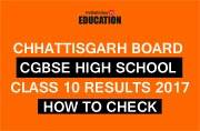 CGBSE Class 10 Results 2017: How to check at cgbse.net