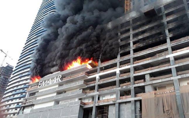 Massive fire breaks out near Dubai's iconic Burj Khalifa