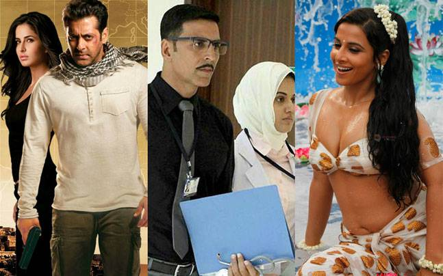 (L to R) Stills from Ek Tha Tiger, Naam Shabana and The Dirty Picture