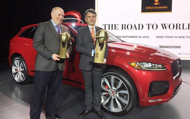 Jaguar F PACE Wins The 2017 WCOTY Award. The World Car Of The Year ...