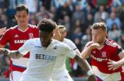 Premier League strugglers Swansea and Middlesbrough play out goalless draw