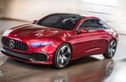 Mercedes Benz showcases Concept A sedan at Shanghai Auto Show