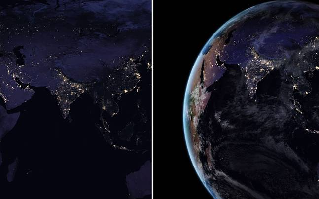 On The Globe India: India In 2012 Vs 2016: NASA Pictures Shed Light Upon India