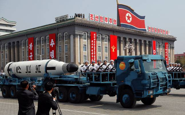Pukkuksong submarine-launched ballistic missile