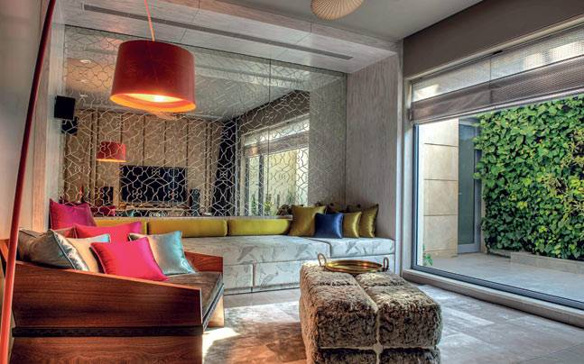 Furnishings add colour and contast well with the jali wall. Picture courtesy: India Today Home