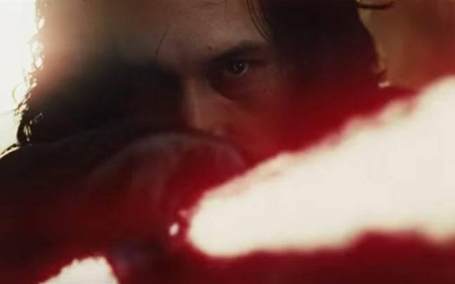 Adam Driver in a still from Star Wars: The Last Jedi