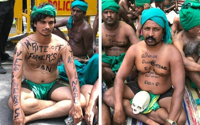 The protest by Tamil Nadu farmers in Delhi completed a month today. (Image: India Today Group)
