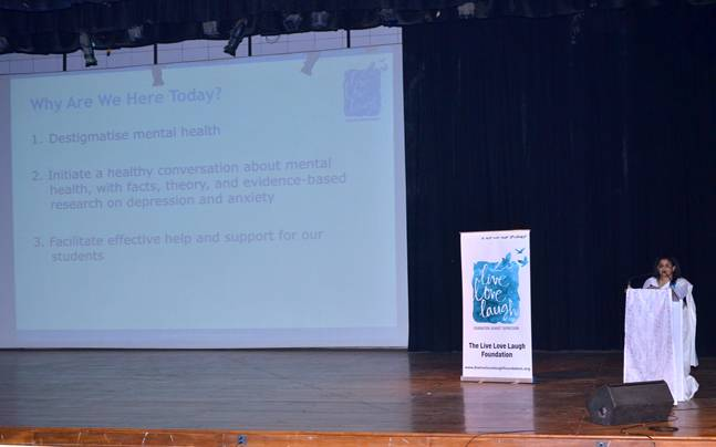 Anna Chandy, Chairperson - Board of Trustees, TLLLF at a You Are Not Alone session