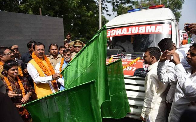 In Yogi Adityanath's Uttar Pradesh, cows get an ambulance