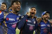 Mumbai Indians party in style after winning third IPL crown