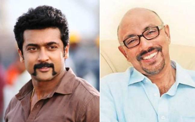 Suriya (L) and Sathyaraj