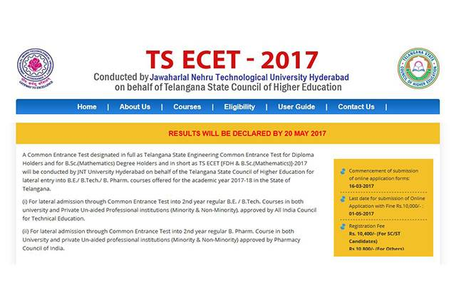 Result to be declared tomorrow at ecet.tsche.ac.in