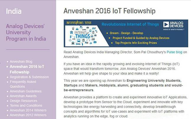 Analog Devices felicitates winners of Anveshan 2016-17