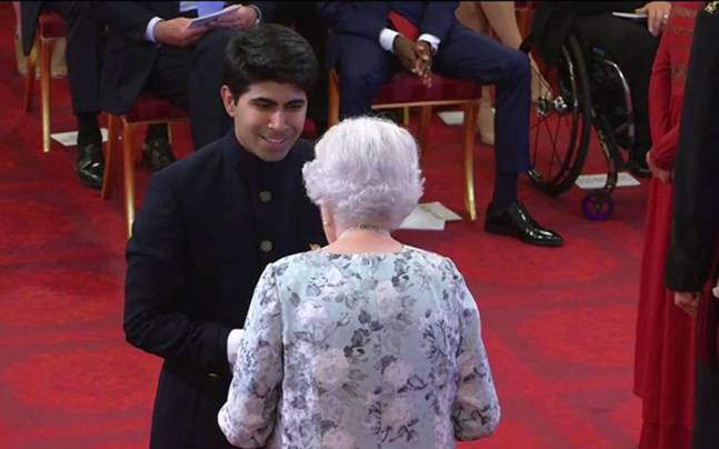 Image result for Ankit Kawatra from India receives Queen's Young Leader Award from Her Majesty the Queen at the Buckingham Palace, London