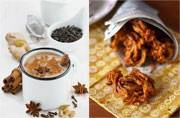Rainy day couple: Spicy masala chai and the best-pakora-ever recipe