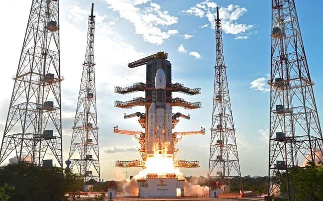 GSLV Mk III takes off from Sriharikota.