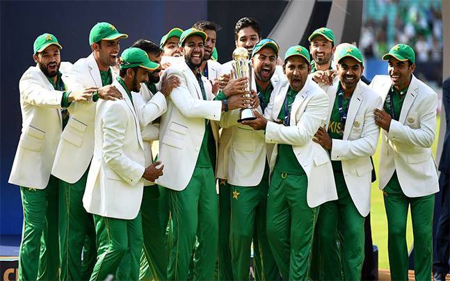 Pakistan Team After Winning Champions Trophy 2017