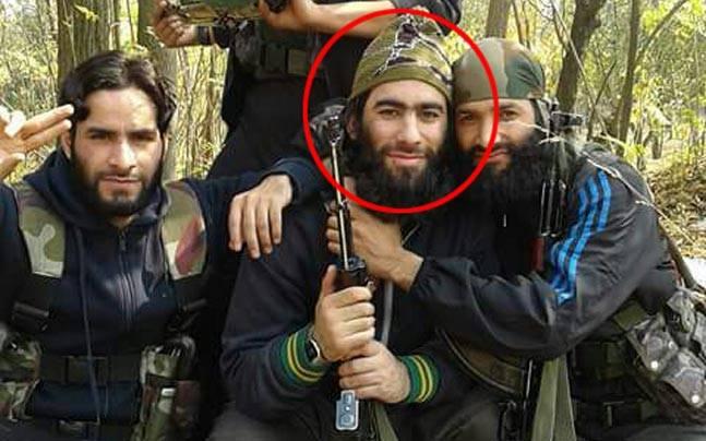 Top Lashkar commander Junaid Mattoo (circled in red)