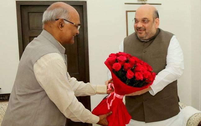Ram Nath Kovind with Amit Shah.