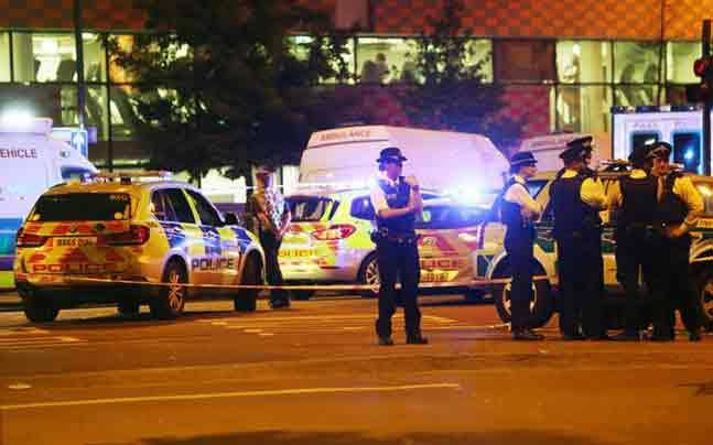 Police cordoned off the area near the Finsbury Park in north London. Photo: Reuters