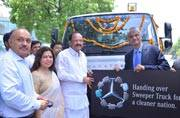 World Environment Day 2017: Mercedes-Benz donates state-of-the-art Road Sweeper Truck to NDMC