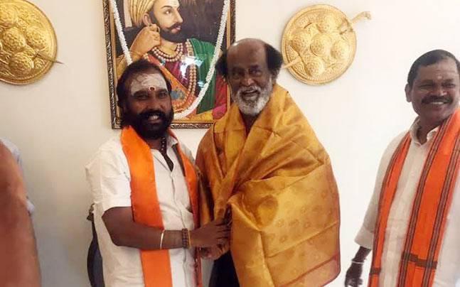 Rajinikanth meets Hindu Makkal Katchi leaders