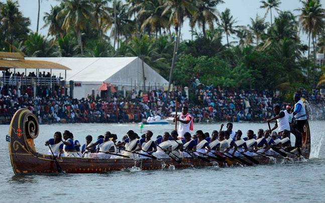 Kerala's famous boat race. Source: nehrutrophy.nic.in