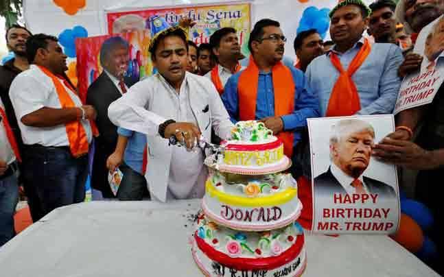 Hindu Sena celebrated the birthday of Donald Trump last year as well (Photo: Reuters)