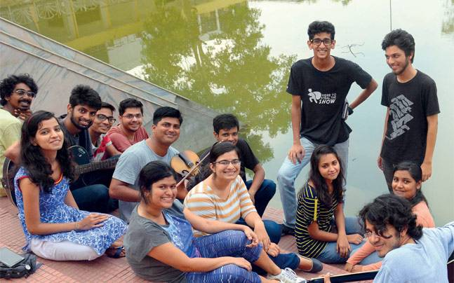 Students at IIT, Kharagpur. Photo: Subir Halder