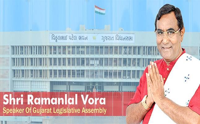 Gujarat Assembly Speaker Ramanlal Vora. Photo: Facebookramanlalvora