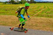 This ex-teacher is travelling 50 countries on just his skateboard!