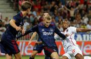 Ajax hold Nice as Celtic falter against Rosenborg in Champions League playoff