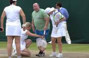 Watch: Irishman gets to wear Kim Clijsters' skort and face the serve at Wimbledon