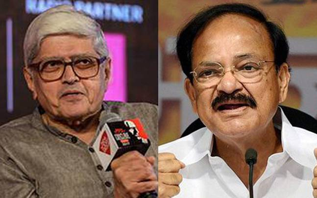 It will be fight between BJP's Venkaiah Naidu and Opposition's Gopalkrishna Gandhi for the post of vice-president. Photos: PTI.