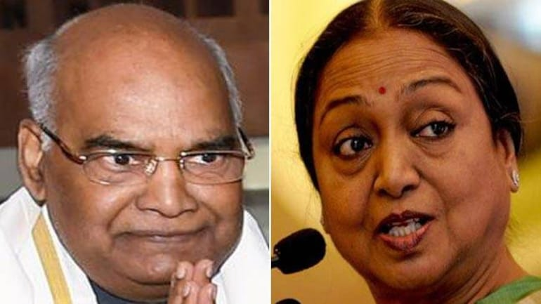 NDA's presidential candidate Ram Nath Kovind takes on Opposition's pick Meira Kumar tomorrow.