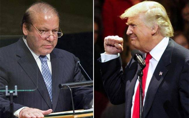 Nawaz Sharif (left) and Donald Trump