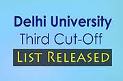 DU third cut-off list released at du.ac.in
