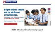 HDFC helping students in educational crisis: Scholarship details