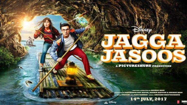 Katrina Kaif and Ranbir Kapoor in a poster of Jagga Jasoos