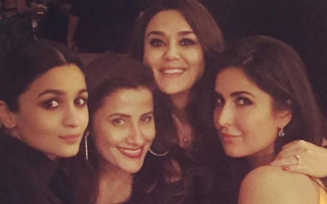Katrina Kaif with Preity Zinta, Alia Bhatt and Yasmin Karachiwala