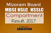 Mizoram Board MBSE HSLC, HSSLC Compartment Result 2017 declared at mbse.edu.in: Steps to check