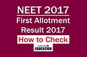 NEET 2017 First Allotment Result 2017 declared at mcc.nic.in: How to check