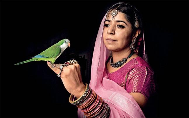 The impersonation of Mehr-un-Nissa/Noor Jahan. Self portrait, Anusha Yadav