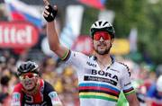 Tour de Frace: World champion Peter Sagan disqualified for causing crash with Mark Cavendish