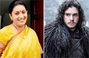 Smriti Irani thinks GoT's Jon Snow and Kyunki Saas Bhi Kabhi Bahu Thi's Mihir Virani have this one thing in common